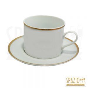 Xícaras de Chá Friso Ouro